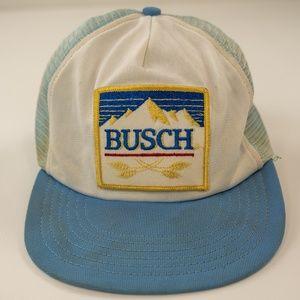 Vintage Busch Beer Mesh Trucker Patch Hat Snapback